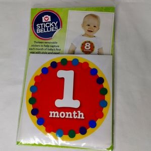 Sticky Bellies Monthly Milestone Stickers New